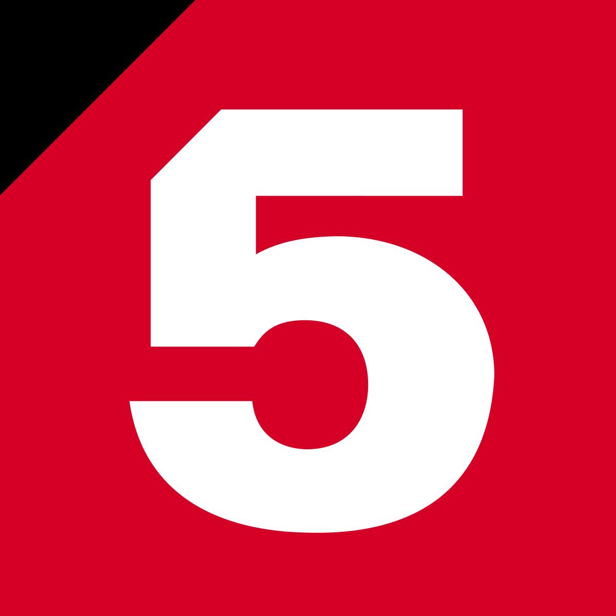 Логотип телеканала Пятый вещание в г. Баранул