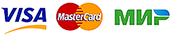 Logo Visa and MasterCard